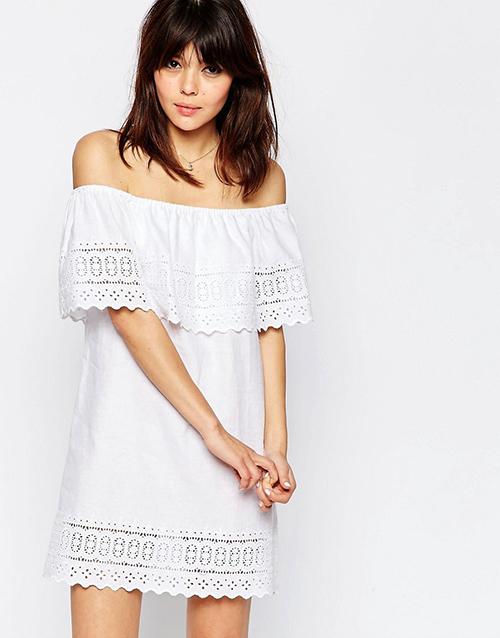robe epaules denudees asos cristina cordula With robe blanche epaule dénudée