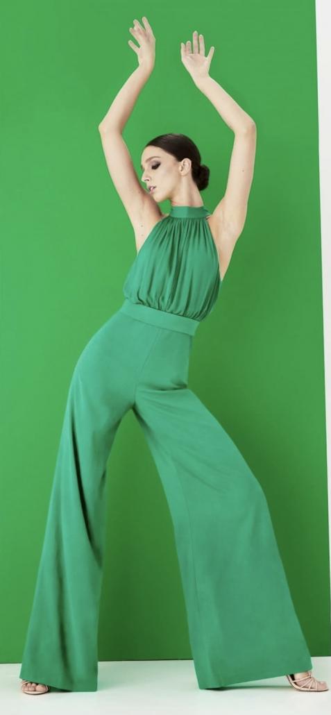 robe en couleur vert gazon