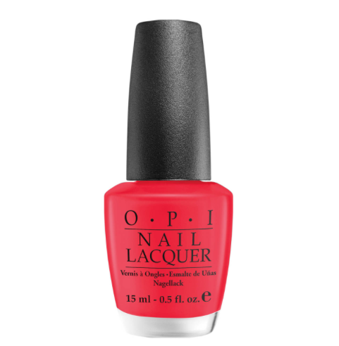 Vernis ongle rouge corail