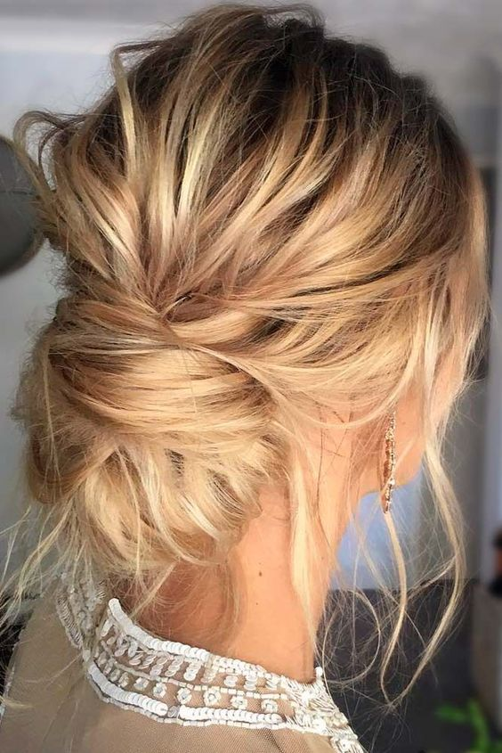 Chignon Boheme Cheveux Mi Long Coupe Mi Long