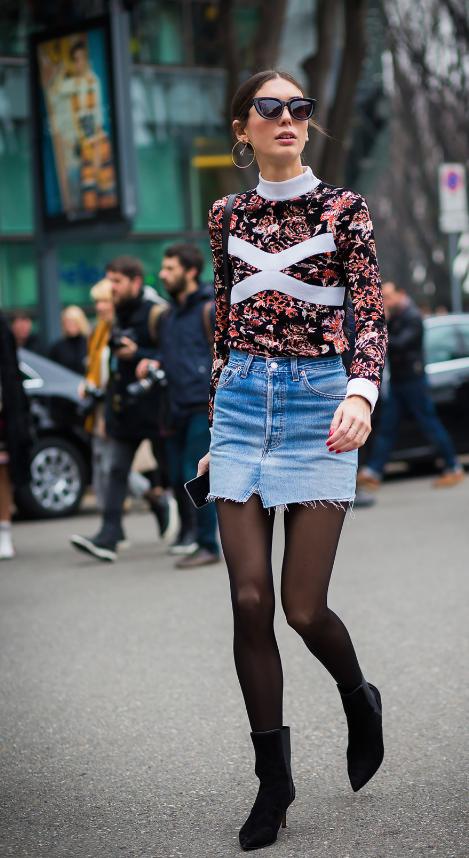 Inspiration mini-jupe en jean